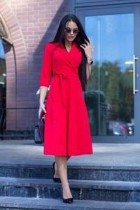 Платье короткое коктейльное красное Ф7180