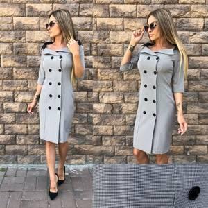Платье  короткое однотонное У0970