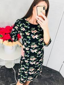 Платье короткое нарядное с принтом Х6813