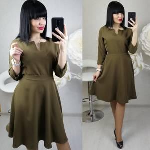 Платье короткое с рукавом 3/4 современное Х8681
