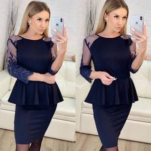 Платье короткое нарядное классическое Х1631