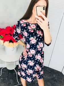 Платье короткое нарядное с принтом Х6814