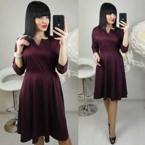 Платье короткое с рукавом 3/4 современное Х8682