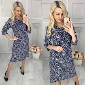 Платье короткое нарядное с принтом Х2347