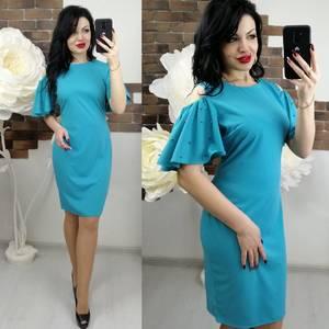 Платье короткое с рукавом 3/4 элегантное Х6286