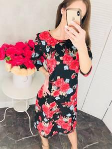 Платье короткое нарядное с принтом Х6815