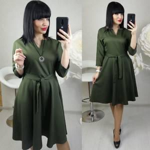Платье короткое с рукавом 3/4 современное Х8683