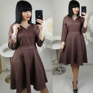 Платье короткое с рукавом 3/4 современное Х8684
