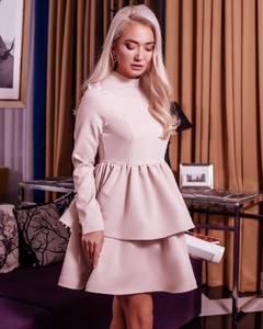 Платье короткое коктейльное с длинным рукавом Х2045
