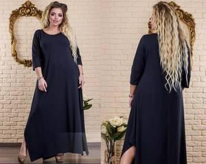 Платье длинное черное нарядное Х5873