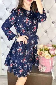 Платье короткое с длинным рукавом Я7739