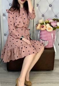 Платье короткое с длинным рукавом Я7740