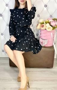 Платье короткое с длинным рукавом Я7741