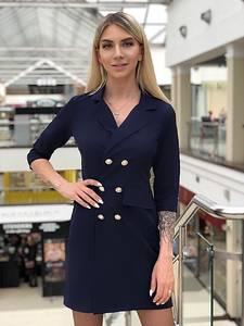 Платье короткое с рукавом 3/4 элегантное Х5787