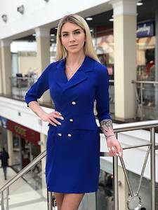 Платье короткое с рукавом 3/4 элегантное Х5788
