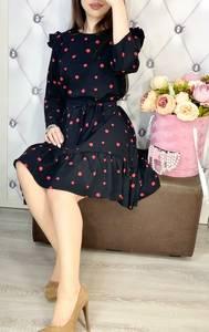 Платье короткое с длинным рукавом Я7743