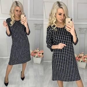 Платье короткое трикотажное повседневное Х0883