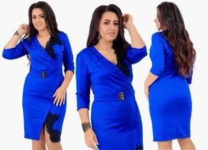 Платье короткое нарядное деловое Х1578