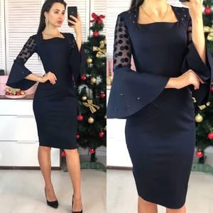 Платье короткое нарядное элегантное Ф7380