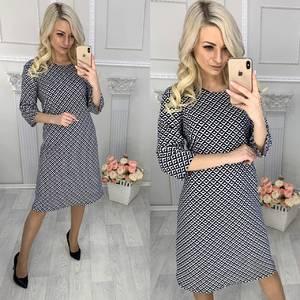 Платье короткое трикотажное повседневное Х0887
