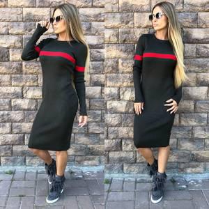 Платье короткое современное теплое У0364