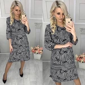 Платье короткое трикотажное повседневное Х0888