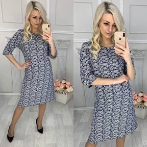 Платье короткое трикотажное повседневное Х0889