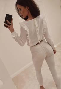 Блуза с длинным рукавом А49541