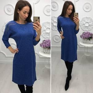 Платье короткое нарядное трикотажное Ф3380