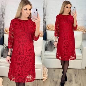 Платье короткое с принтом Х0028