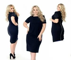 Платье короткое нарядное черное Х5766