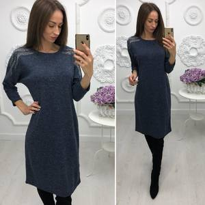 Платье короткое нарядное трикотажное Ф3381