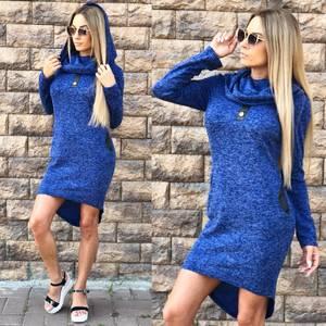 Платье короткое трикотажное современное У8291