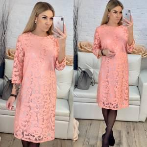 Платье короткое с принтом Х0029