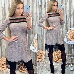 Платье короткое трикотажное современное Х0047