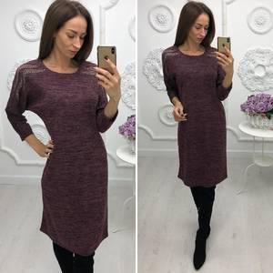 Платье короткое нарядное трикотажное Ф3382