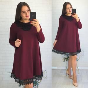 Платье короткое нарядное красное Ф3545