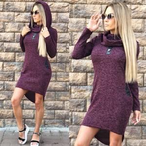 Платье короткое трикотажное современное У8292