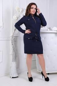 Платье короткое нарядное синее Ф4656