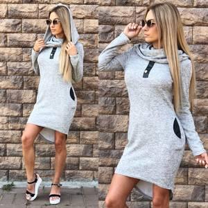 Платье короткое трикотажное современное У8293