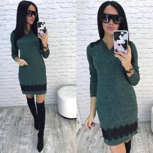 Платье короткое однотонное облегающее Ф5924