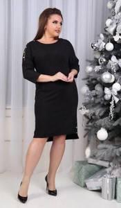 Платье короткое нарядное черное Х1319