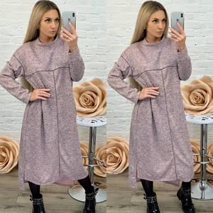 Платье длинное с длинным рукавом однотонное Ф5577