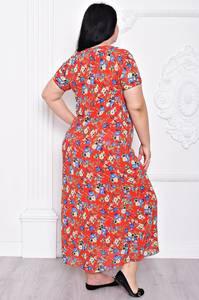 Платье длинное летнее с принтом С9215