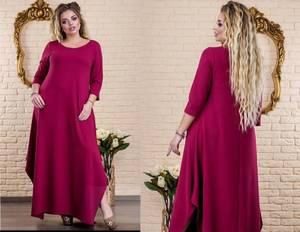 Платье длинное нарядное однотонное Х5874