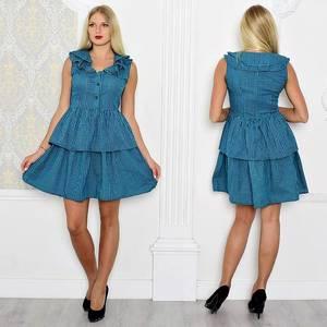 Платье короткое без рукавов летнее Т0929