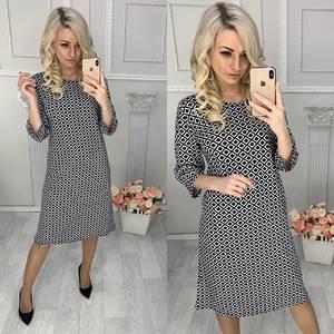 Платье короткое трикотажное повседневное Х0882