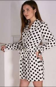 Платье короткое с длинным рукавом Ч0006