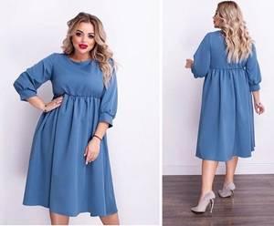 Платье короткое однотонное А15537