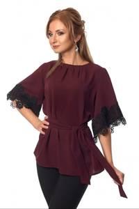 Блуза с кружевом Ц3486